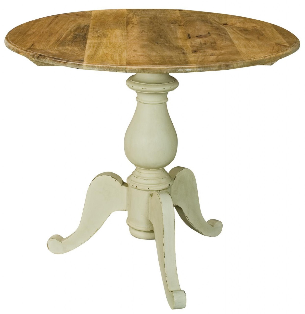 Cream small kitchen table for Small round wood kitchen table