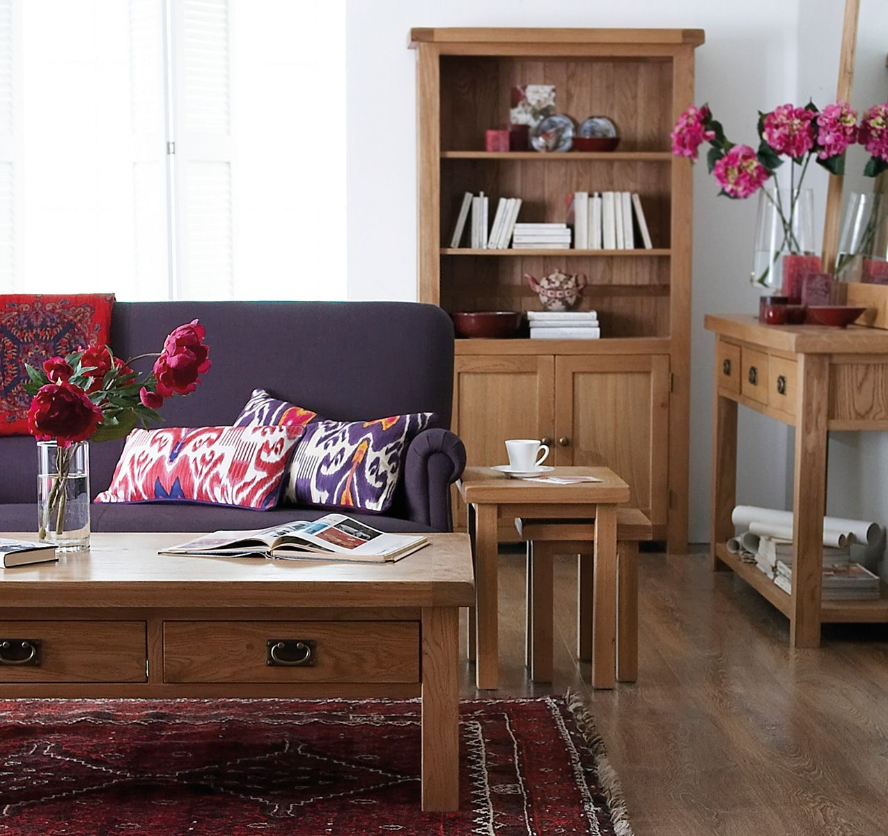 Oakham Rustic French Oak Lounge Dining Bedroom Furniture